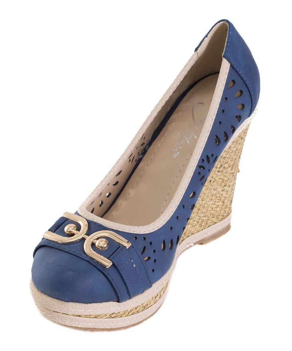 Love this Blue Link Wedge by Victoria K on #zulily! #zulilyfinds