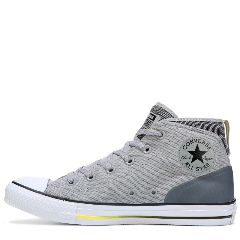 Converse Men s Chuck Taylor All Star Syde Street Mid Top Sneakers  (Grey White Yellow) - 11.5 M 99672fb6a