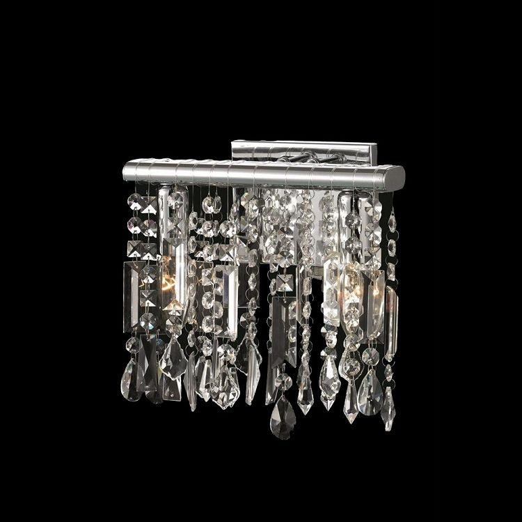Crystal Fusion Design 2 Light 10 Wall Sconce With European Crystals Sku 85000