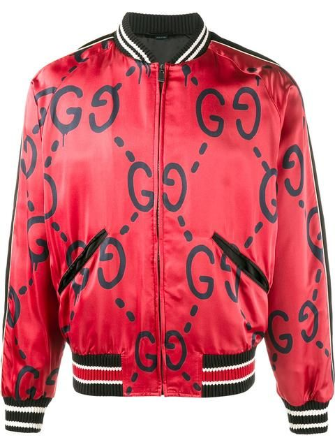 3db82be64 Shop Gucci Gucci Ghost print bomber jacket. | MEN MEN MEN | Gucci ...