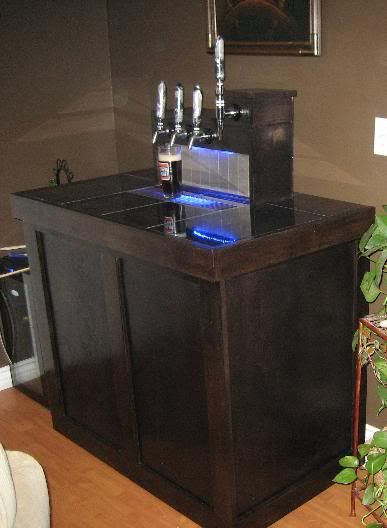 Coffin keezer list home brew forums diy pinterest for Home bar with kegerator space