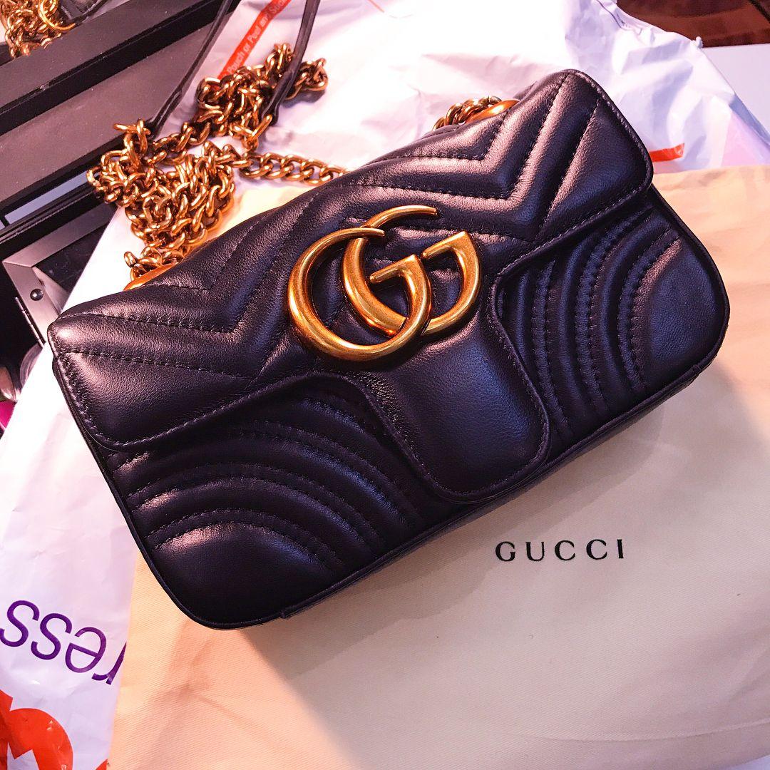 f5f7cc5cab2225 Gucci GG Marmont Matelasse Shoulder Bag 443496 | Gucci handbag ...