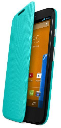 Motorola Flip Shell for Moto G – Retail Packaging – Turquoise