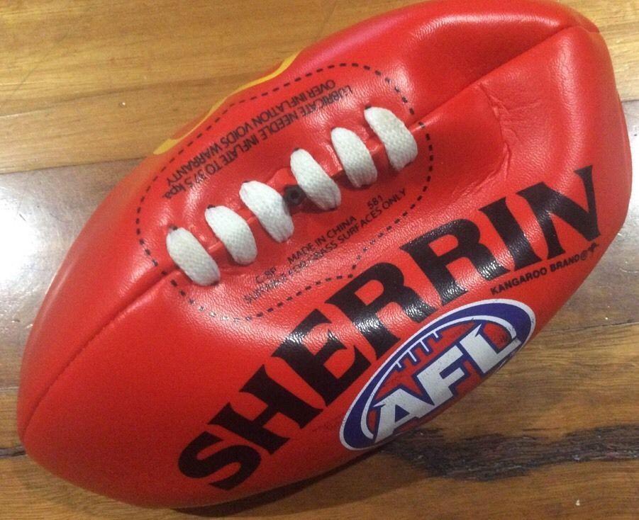 AFL Sherrin 23.5 cm Across Football McDonalds NEW Brand