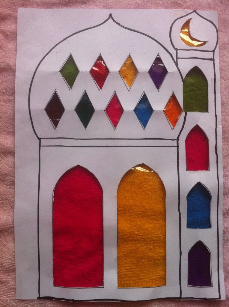 ramadan arts and crafts ideas masjid mosque sun catcher islam activities crafts 7087
