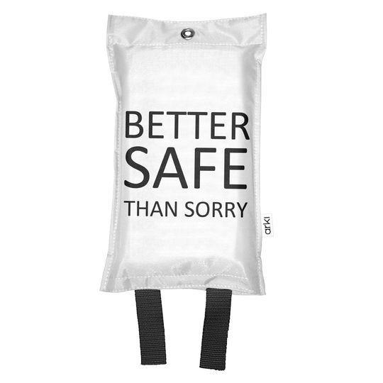 Sammutuspeite Better Safe valkoinen - Kaunista kotiin - Hyvän Tuulen Puoti