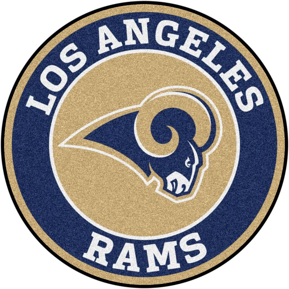 Fanmats Nfl Los Angeles Rams Navy 2 Ft Round Area Rug 17976 The Home Depot Nfl Los Angeles Los Angeles Rams Nfl Teams Logos
