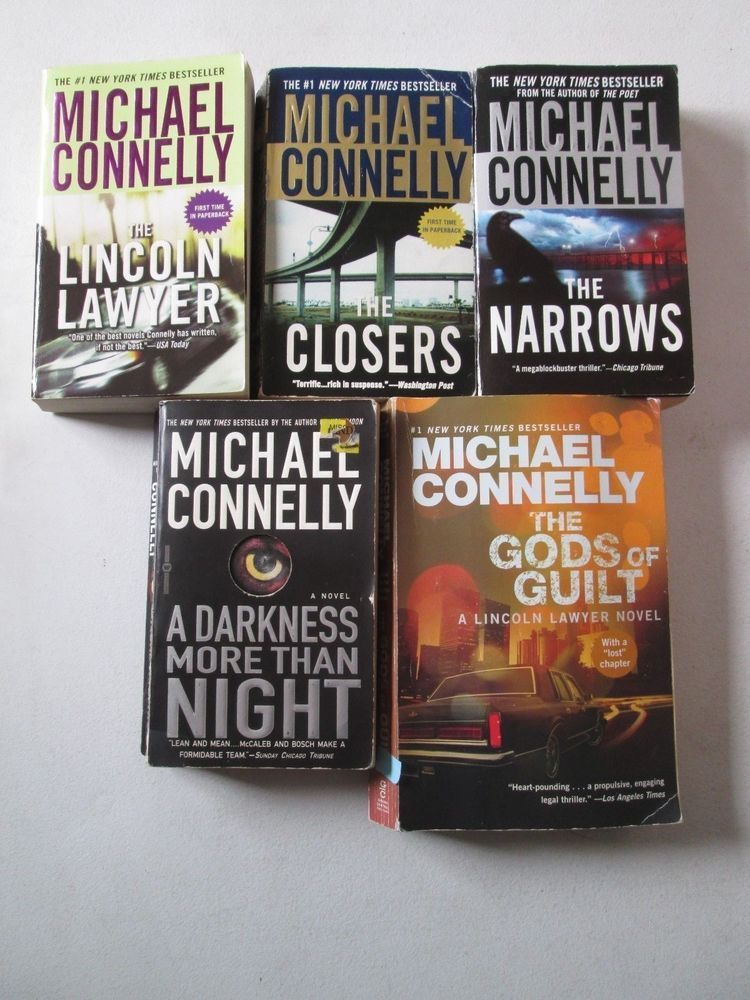 Michael Connelly Lot 5 Paperbacks Detective Harry Bosch Lincoln