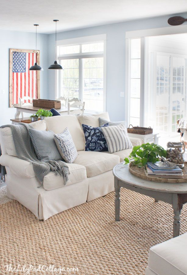 Lake House Spring Decor Cottage Living Rooms Small Lake Houses Cottage Living Room Small