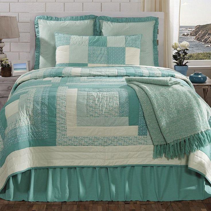 Aqua Teal Turquoise Tropical Coastal Beach Twin Qu Crochet Quilling Ideas King Quilt Bedding Quilt Sets Bedding Quilt Bedding