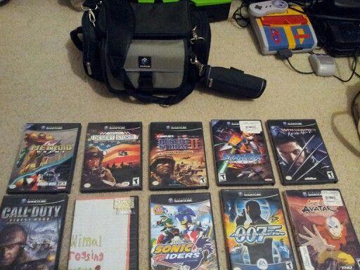 Nintendo GameCube bag and 10 of my favorite games