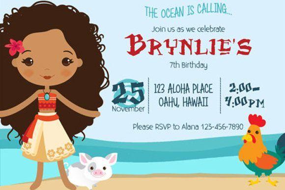 moana invitation template free - moana birthday party invitation moana