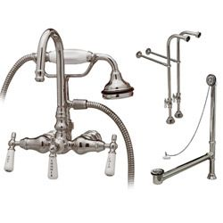 Clawfoot Tub Freestanding High Spout Faucet Drain And Supply