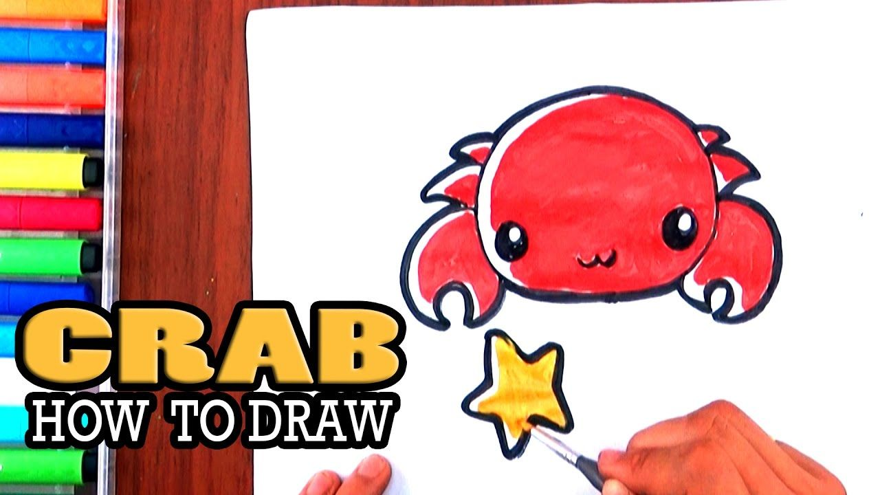 how to draw a crab cute animal draw socute crab for kids how
