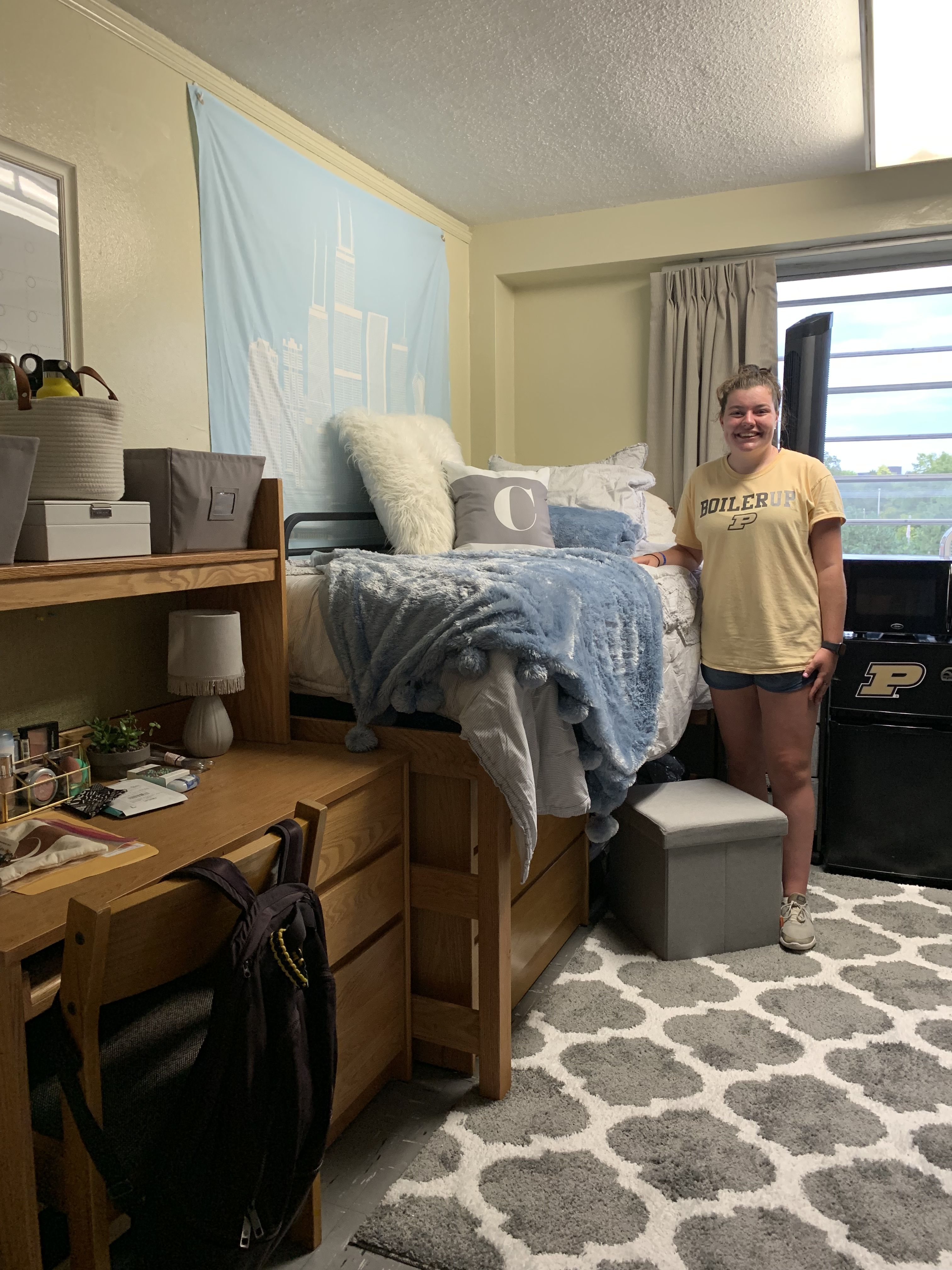 Best Light Blue Gray Grey White Dorm Room College Dorm Girl 400 x 300