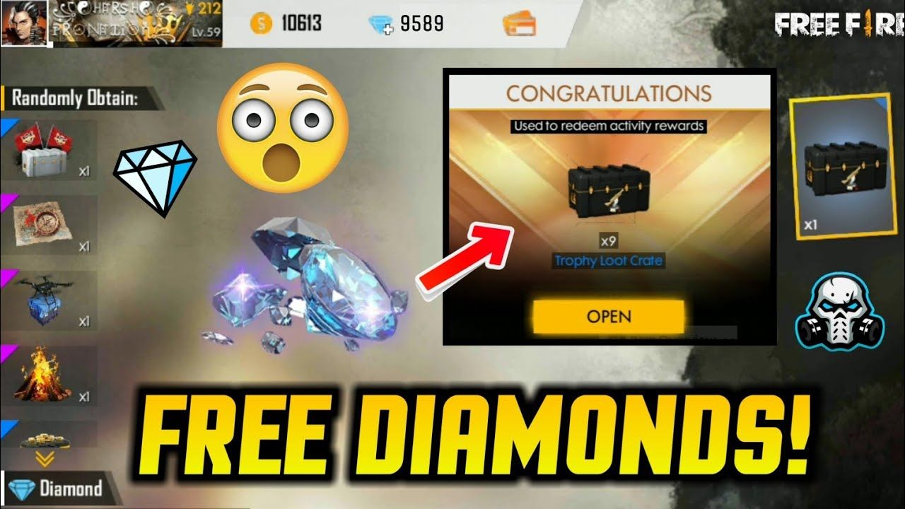 How To Get 2000 Free Diamonds In Free Fire Using 100 Top Up Bonus Diamond Free Knight Games Pop Up Banner