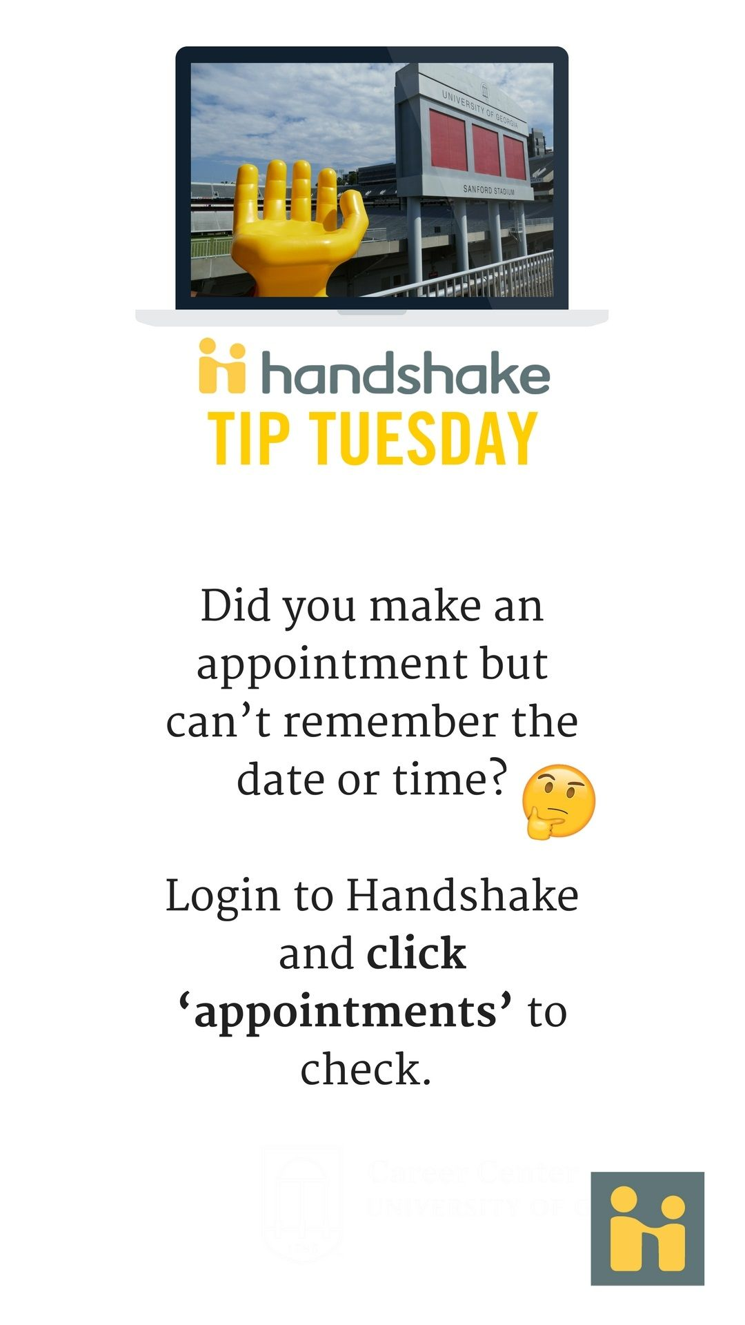 Uga Career Center Resume Pinuga Career Center On Handshake Tips  Pinterest
