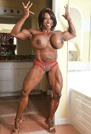 Authoritative Black muscle girl nude with