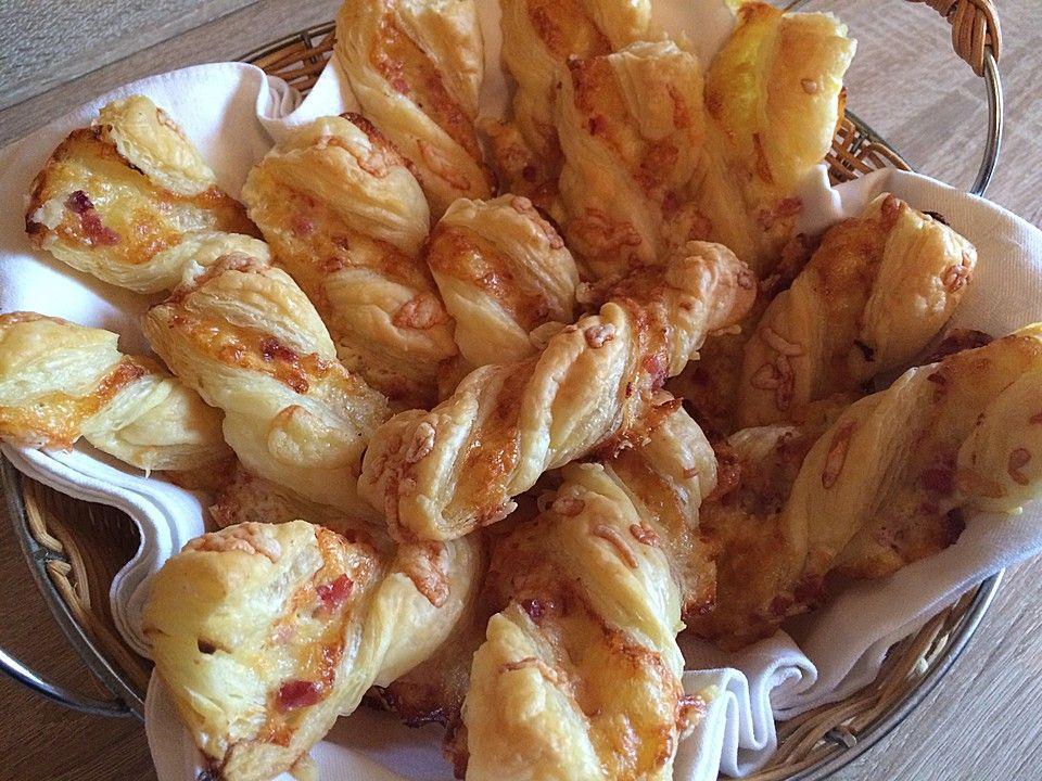 Blätterteig Schinken Käse Stangen Rezept Rezepte Blätterteig