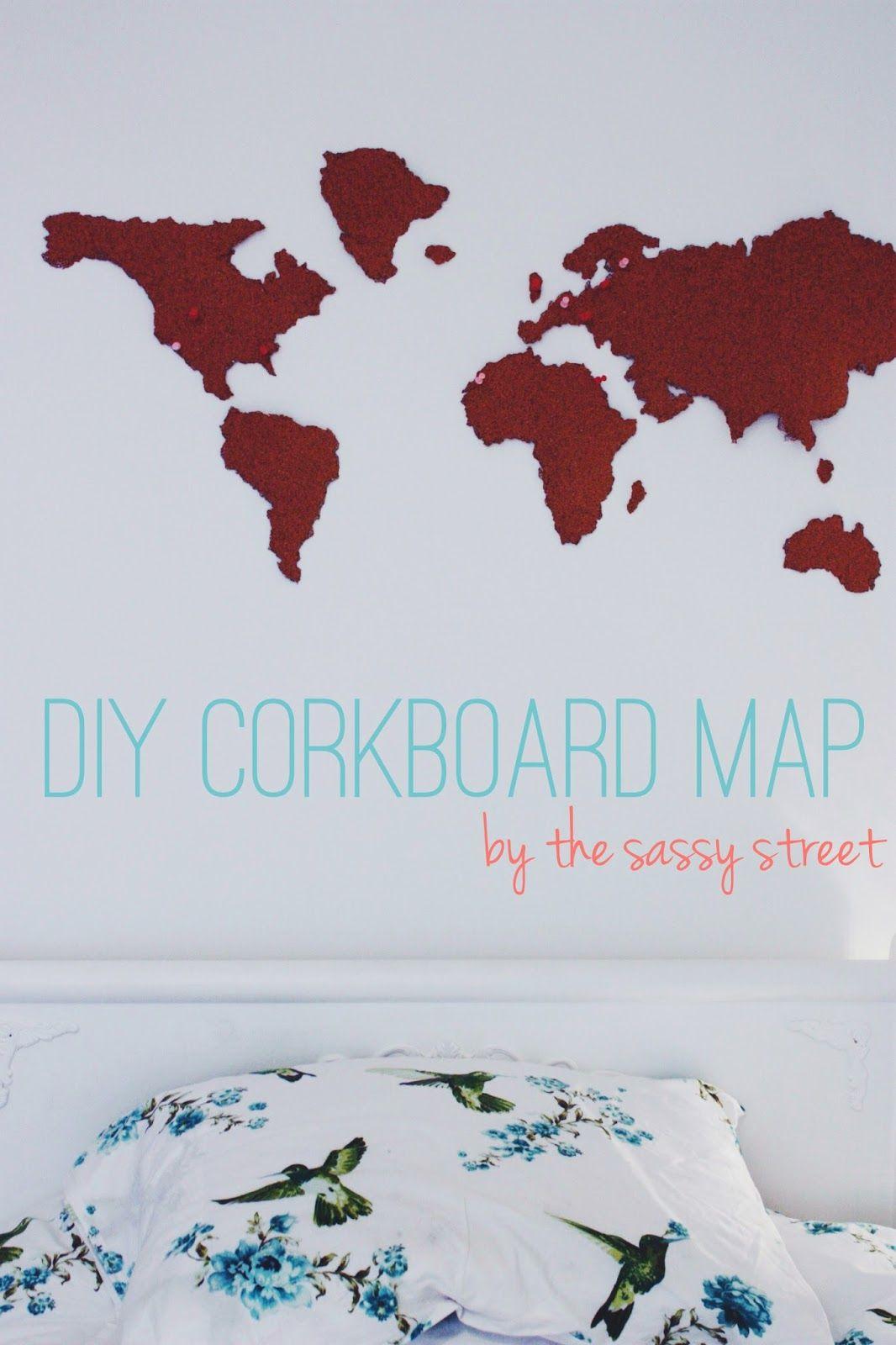 Make your own cork board map!   Cork boards, Cork and Diy ...