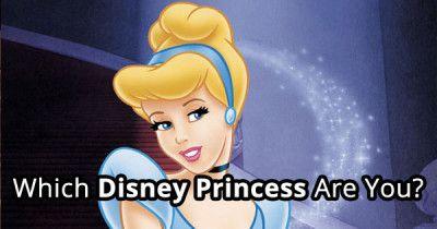 Which Disney Princess Are You?   BrainFall.com  I got Cinderella