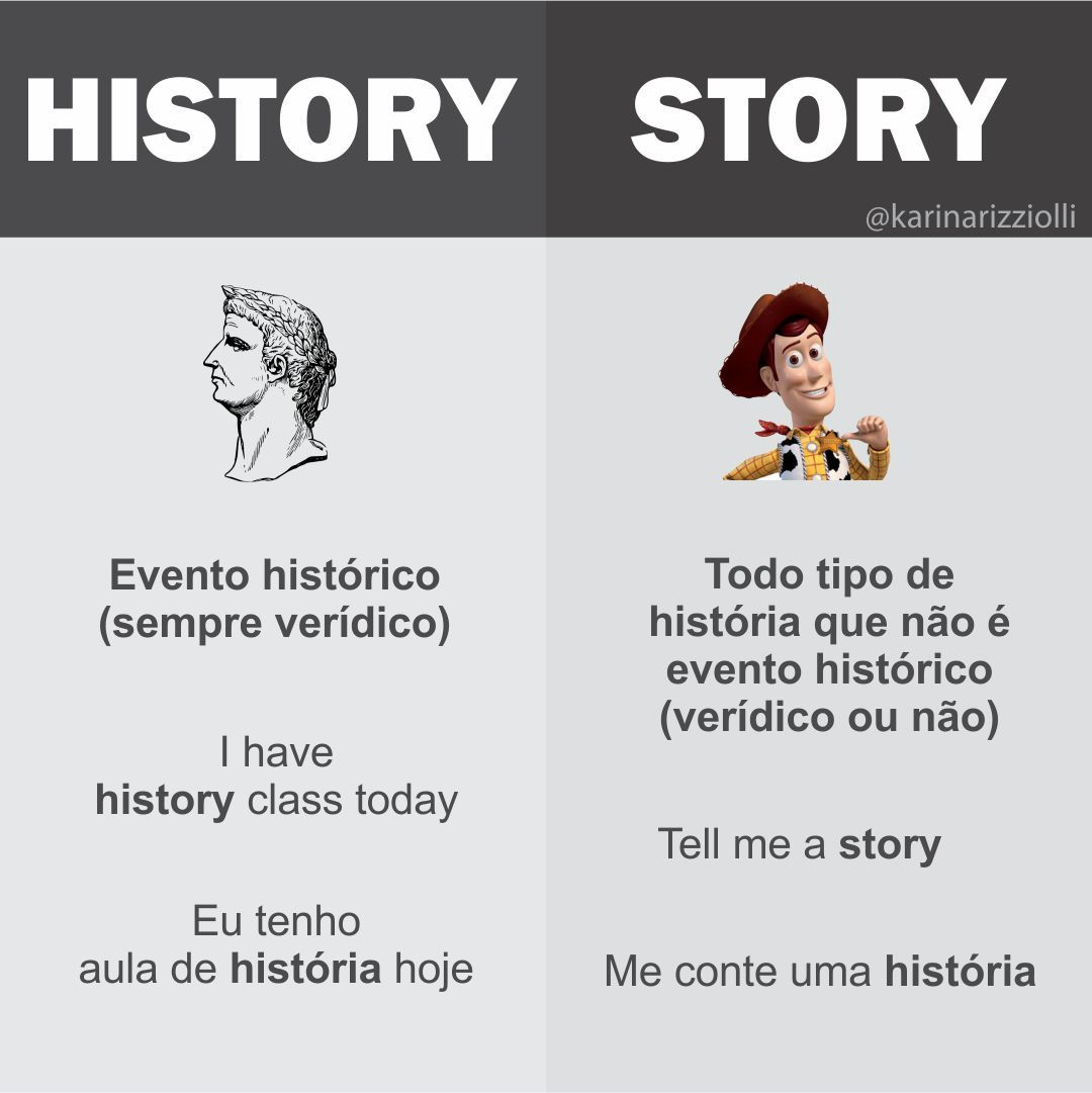 O que é stories em ingles