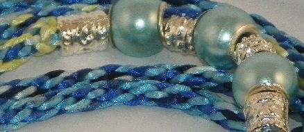 Braided & Beaded Show Lead in shades of Blue by ACLeathercraft, £34.99