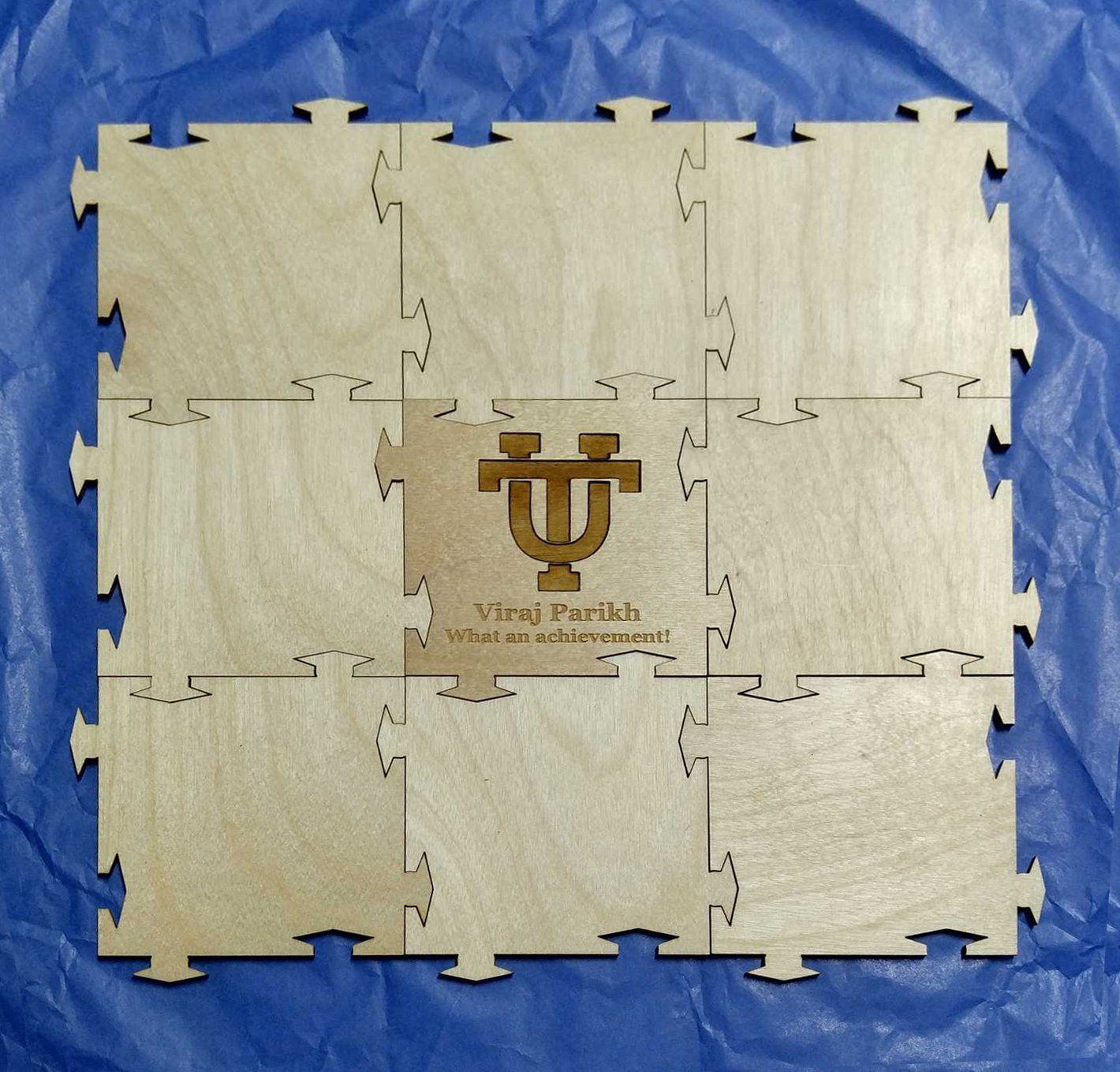 Graduation Puzzle Wooden Signing Guest Book - 50 / 4