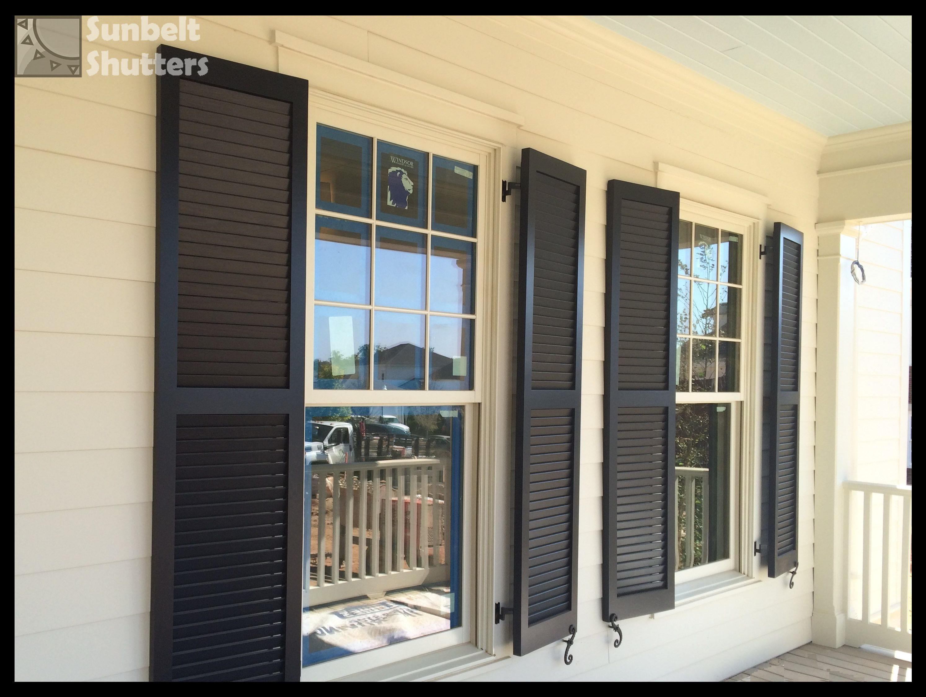 heres a close up sneak peek of the louvered shutters on the showcase home for the fall 2016 huntsvillemadison county parade of homes