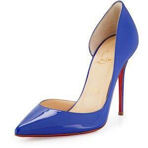 Christian Louboutin royal blue heel