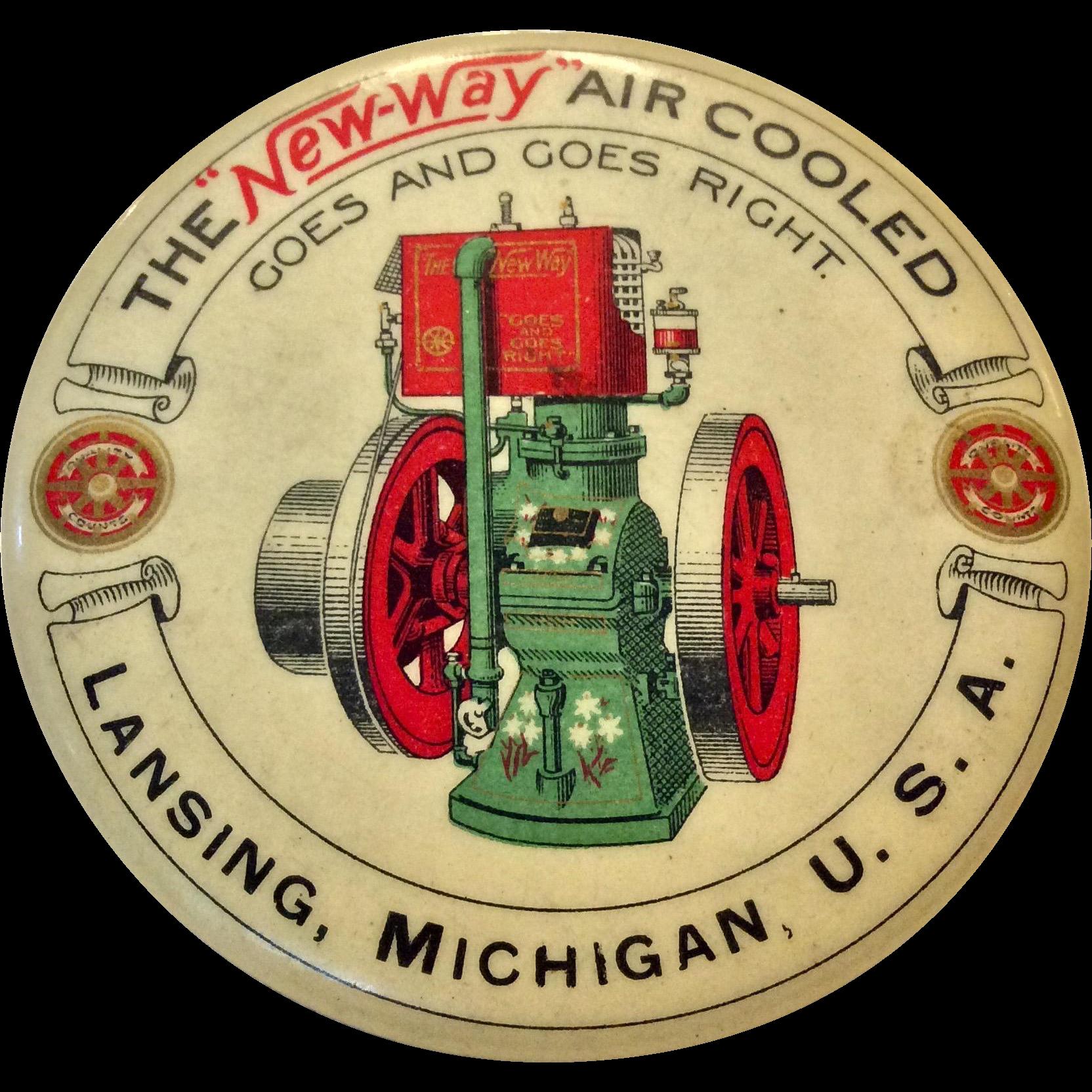 NewWay Air Cooled Engine Motor Advertising Pocket Mirror