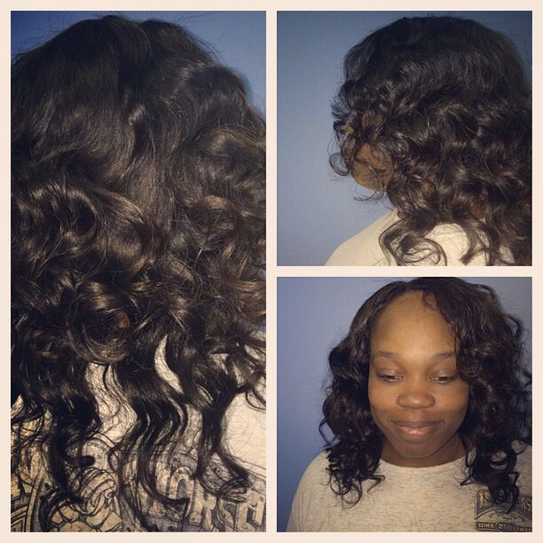 2nd Install Of Brazilian Wavy Hair Used Instyler To Achieve The
