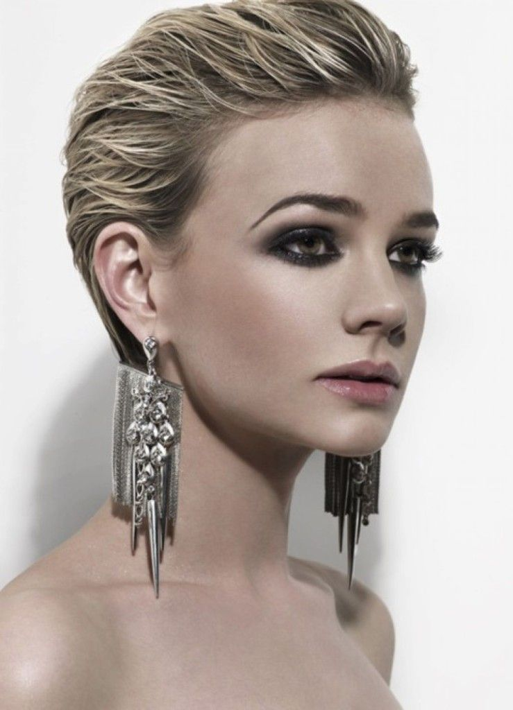 Women Short Slicked Back Hair 54efd499888a2 Cool Blonde