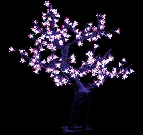 Pink Cherry Blossom Tree Bonsai 24 H Artificial Decor Pink Nearly Natural Flower Home Bota Pink Cherry Blossom Tree Easter Centerpieces Energy Saving Lighting
