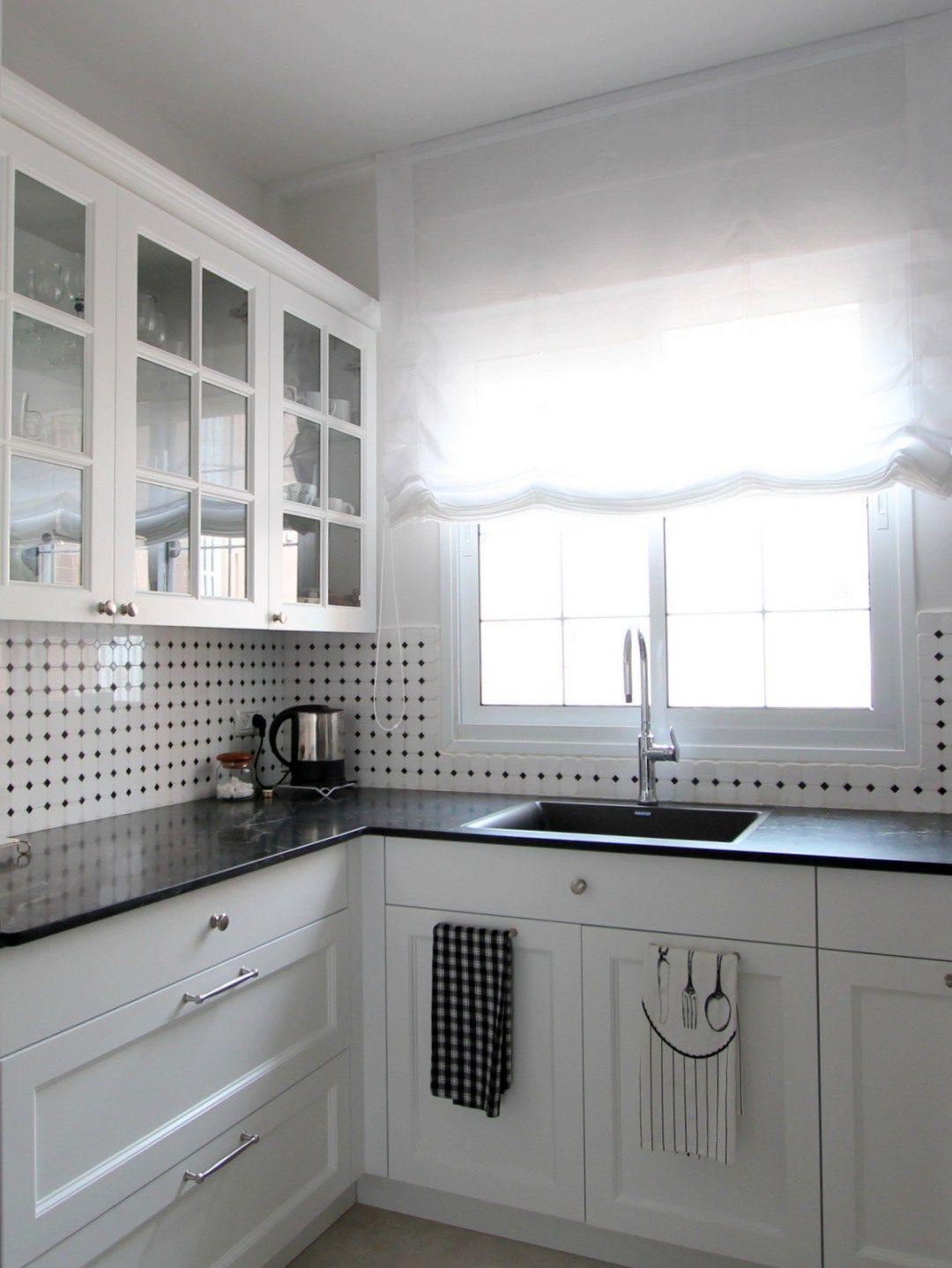 Backsplash around kitchen window  black and white french kitchen marble backsplash window kitchen soft
