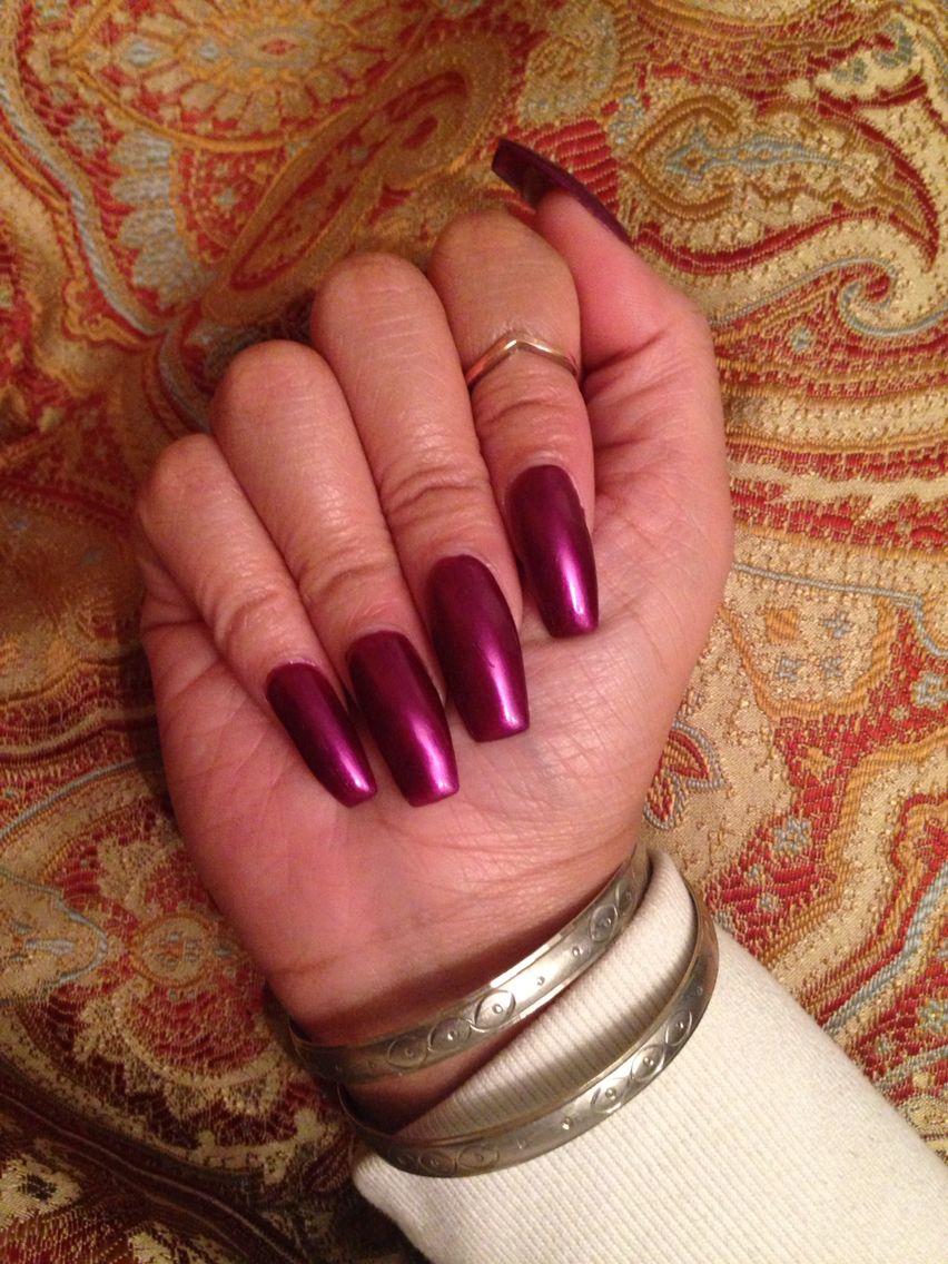 Purple coffin nails | Nails | Pinterest | Clavos de ataúd, Uñas y ...