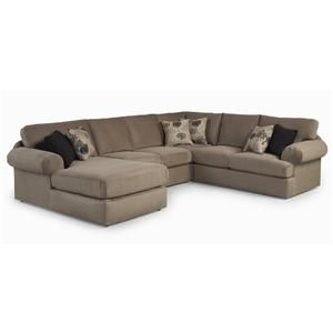 Best Home Furnishings Bree Four Piece Sectional Sofa   Jacksonville  Furniture Mart   Sofa Sectional Jacksonville