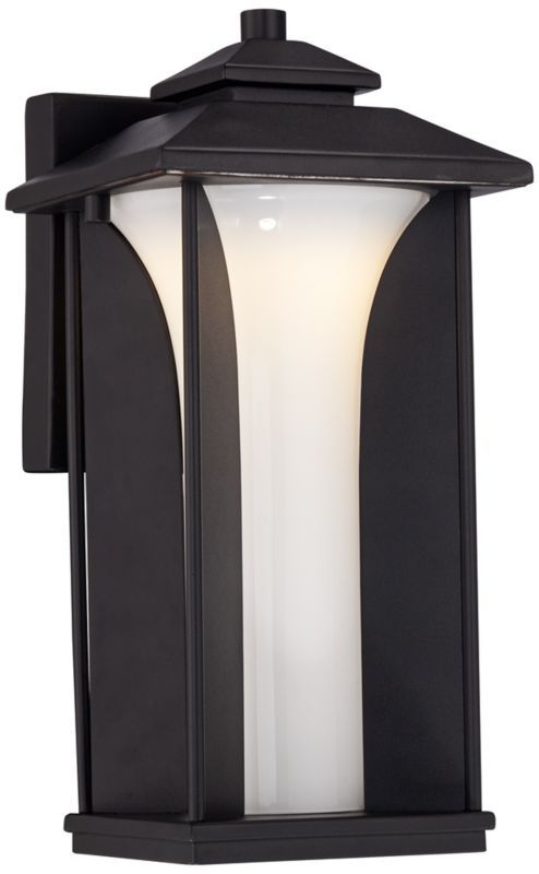 Anlo Modern Black LED Possini Euro Outdoor Wall Light -