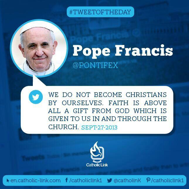 Pope Francis tweets