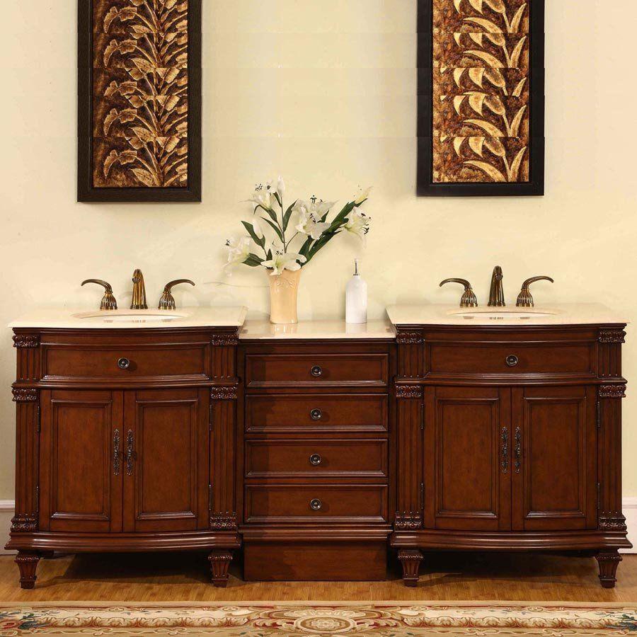 Silkroad 80 Best Bathroom Vanities Double Sink Vanity Bathroom