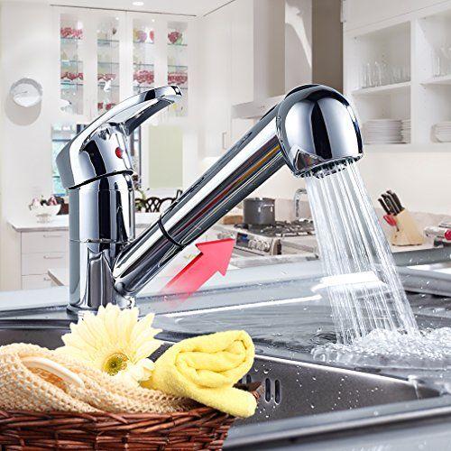 Réduction pour Prime Day Auralum® Mitigeur robinet de cuisine évier - mitigeur cuisine avec douchette extractible