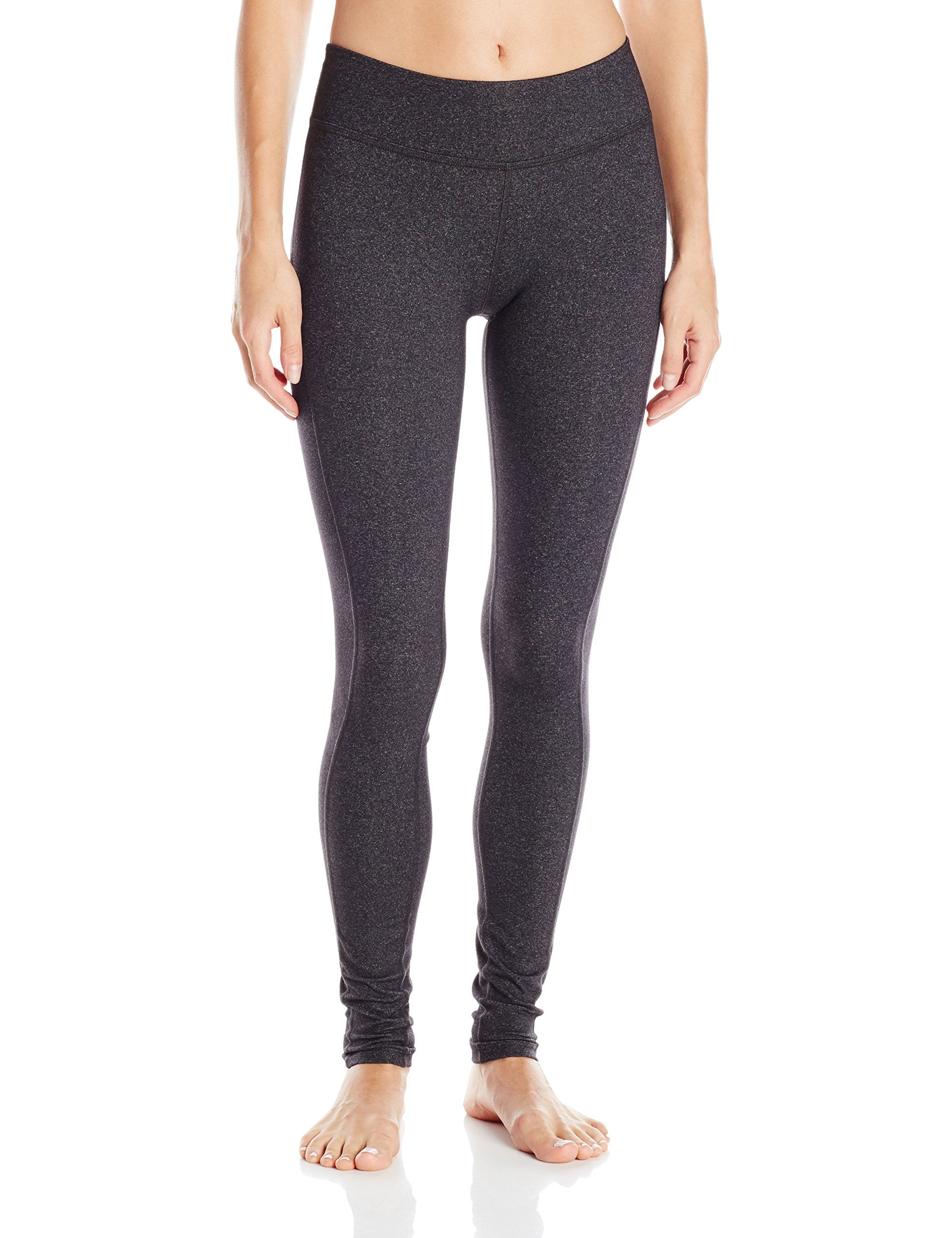 9e8a21d9a0 Beyond Yoga Womens Side Panel Long Legging, Heather Gray, Small. Four way  stretch