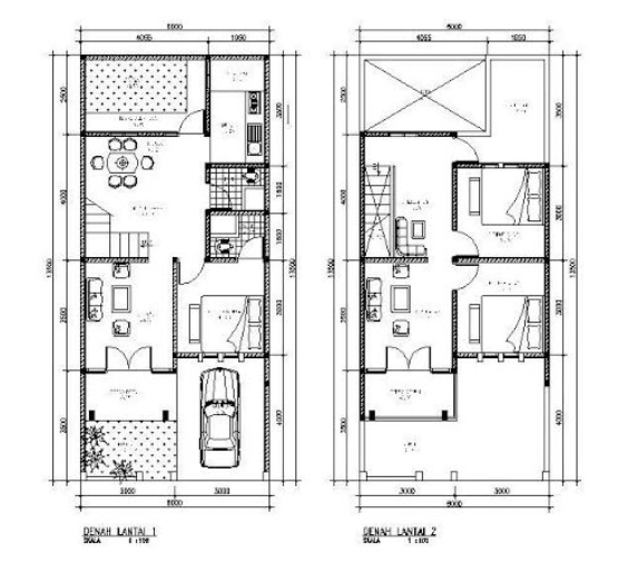 Gambar Denah Rumah 2 Lantai