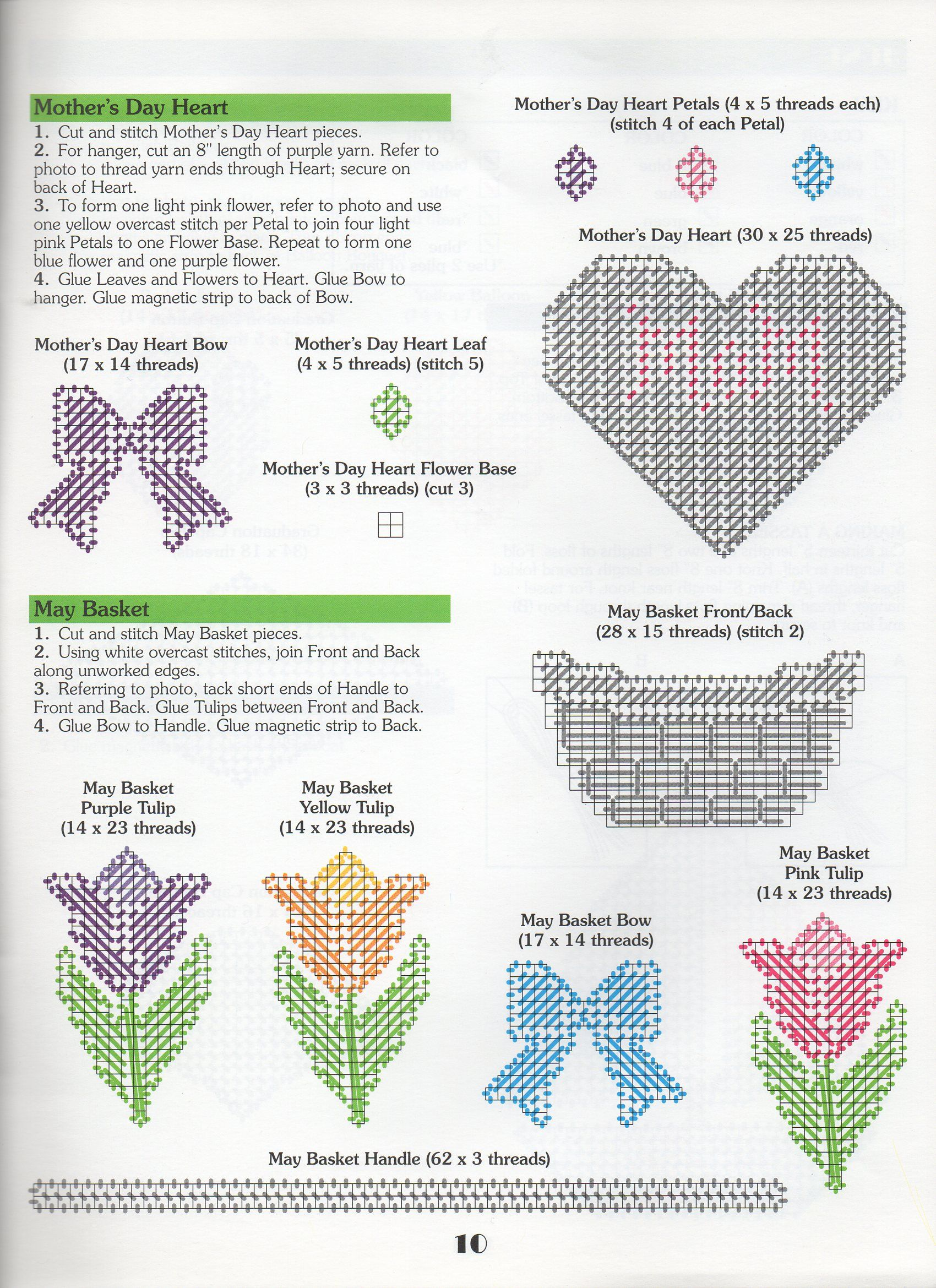 Plastic Canvas Pattern ONLY Butterfly Magnets /& Plant Pokes 7 count pc