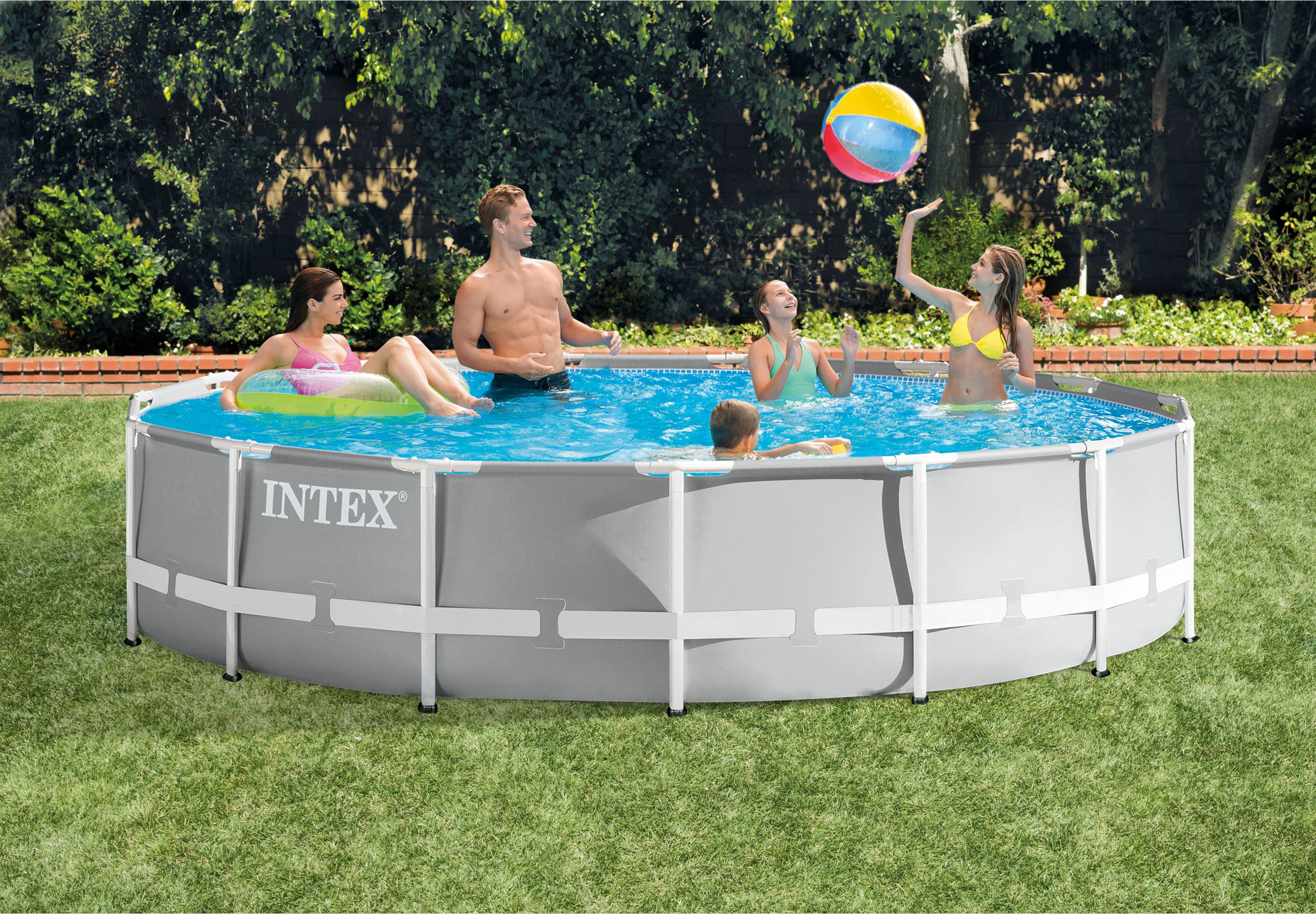 Action Zwembad Intex Intex 4m X 2m X 1m Deep Rectangular Ultra Frame Swimming Pool With