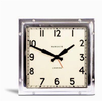 Mini Quad Alarm Clock In Chrome Design By Newgate For The