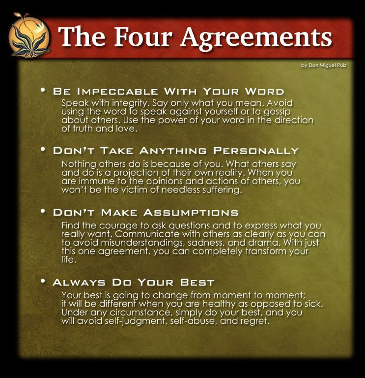 The Four Agreements Words of Wisdom Pinterest Wisdom, Thoughts