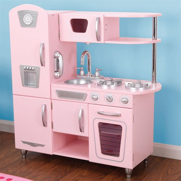 a pink vintage kitchen...i always wanted one