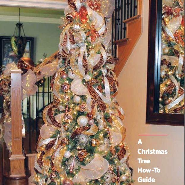 Christmas Trees Ribbon: Christmas Trees With Mesh Ribbon