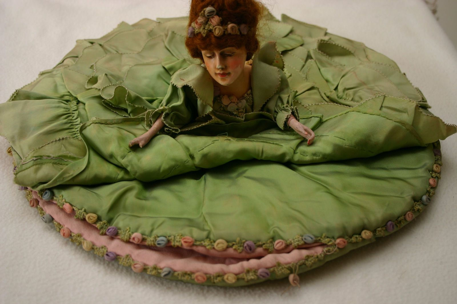 Vintage French Flapper 1920s 30s Half Doll Head Boudoir Nightdress Case | eBay